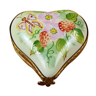 Small Heart W/Strawberries Rochard Limoges Box