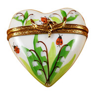Lily Of The Valley Heart Rochard Limoges Box