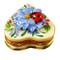 Heart Blue Flower W/Ladybug Rochard Limoges Box