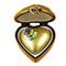 Gold Heart W/Flower Rochard Limoges Box