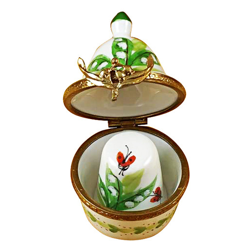 Thimble Box - Lilies Rochard Limoges Box