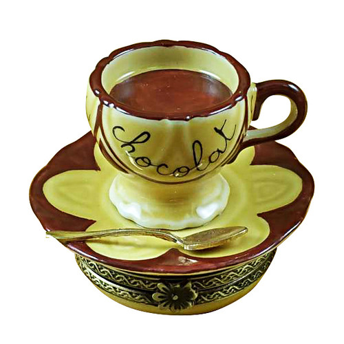 Hot Chocolate Cup & Saucer Rochard Limoges Box
