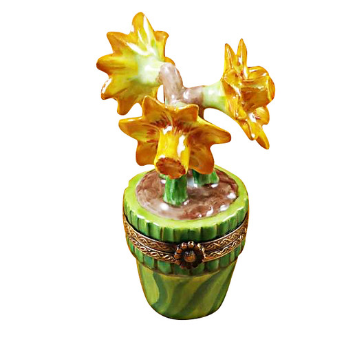 Jonquils In Green Pot Rochard Limoges Box
