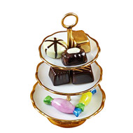 Sweet Tray With Nine Removable Candies Rochard Limoges Box