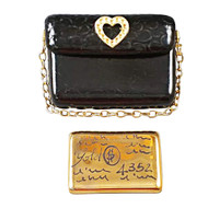 Black Purse Rochard Limoges Box