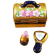 Make-Up Case W/Lipstick Rochard Limoges Box