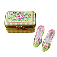 Shoe Box W/Shoes - Victoria Rochard Limoges Box