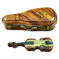 Maplewood Violin Case W/Violin Rochard Limoges Box