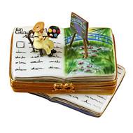 Book Monet/Water Lilies Rochard Limoges Box RN040-M