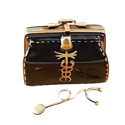 Doctor'S Bag W/Stethoscope Rochard Limoges Box