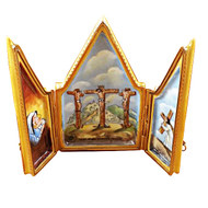 Triptych Crucifix Rochard Limoges Box