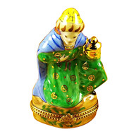Wiseman Green Coat Rochard Limoges Box