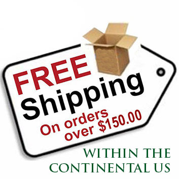 FREE SHIPPING ON ORDERS IN THE USA, OVER $150.00.