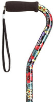 Offset Handle Cane - Night Flowers