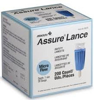 Assure Lance Micro Flow, 28g, 1mm Depth, Light Blue,  200's