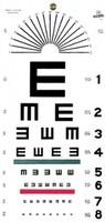 Illiterate Hanging Eye Chart