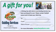 Gift Certificate for a 2-3 person guided fishing trip