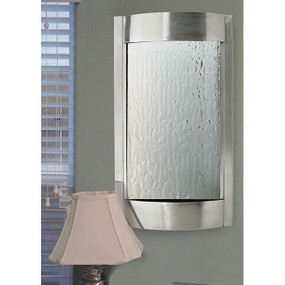 Contempo Luna Stainless Steel and Silver Mirror Indoor Wall Fountain