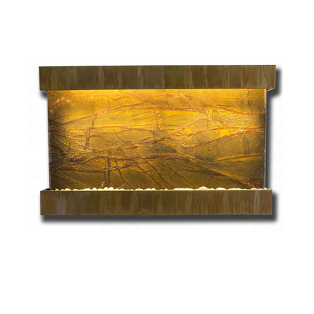 Large Horizon Falls Classic Quarry Rainforest Brown Marble with Copper Patina Kit