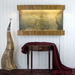 Large Horizon Falls Classic Quarry Jeera Slate with Copper Patina Trim Kit
