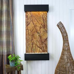 Large Nojoqui Falls Rainforest Brown Marble with Black Onyx Trim Kit