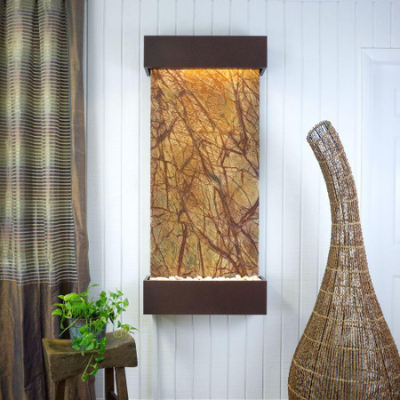 Large Nojoqui Falls Rainforest Brown Marble with Copper Vein Trim Kit