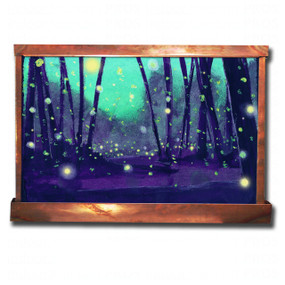 Fireflies at Dusk Wall Fountain