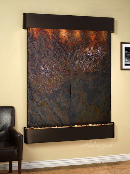 Majestic River - Multi-Color Slate - Blackened Copper - Rounded