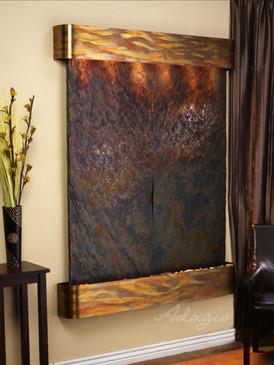 Majestic River - Multi-Color Slate - Rustic Copper - Rounded
