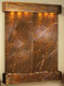 Majestic River - Rainforest Brown Marble - Rustic Copper - Squared