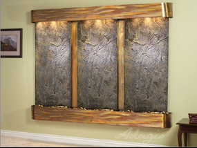 Green FeatherStone - Rustic Copper - Squared