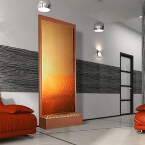 8' Copper Vein Grande With Bronze Mirror Floor FountainF
