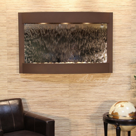 Calming Waters - Woodland Brown - Silver Mirror