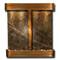 Aspen Falls - Round Corners - Rustic Copper - Rainforest Green Marble