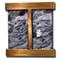 Aspen Falls - Square Corners - Rustic Copper - Black Spider Marble