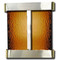 Aspen Falls - Round Corners - Stainless Steel  - Bronze Mirror