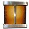 Aspen Falls - Square Corners - Stainless Steel  - Bronze Mirror