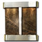 Aspen Falls - Round Corners - Stainless Steel  - Rainforest Green Marble