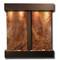 Aspen Falls - Square Corners - Blackened Copper  - Rainforest Brown Marble