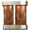 Aspen Falls - Round Corners - Stainless Steel  - Rainforest Brown Marble