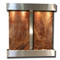 Aspen Falls - Square Corners - Stainless Steel  - Rainforest Brown Marble