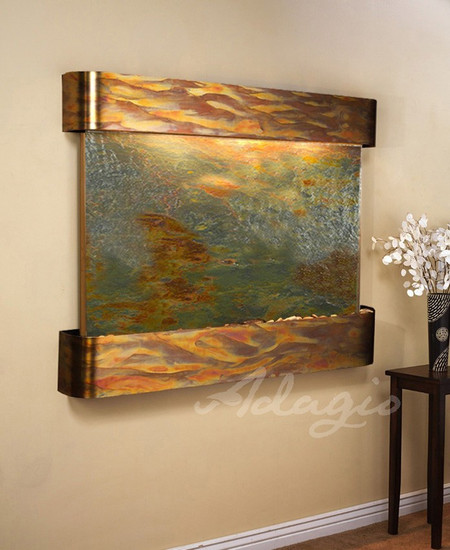 Teton Falls - MultiColor Featherstone with Rustic Copper Trim and Round Corners