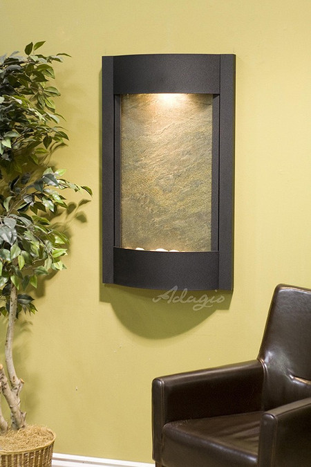 Serene Waters - Green Featherstone with Textured Black Trim