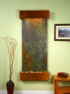 Inspiration Falls-Rajah Slate with Rustic Copper Trim and Square Corners