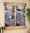 Cottonwood Falls Wall Fountain with Rustic Copper Trim and Black Spider Marble with Rounded Corners