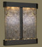 Cottonwood Falls with Antique Black Copper Trim and Green Featherstone with Rounded Corners