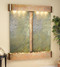 Cottonwood Falls with Rustic Copper and Green Slate Wall Fountain with Rounded Corners