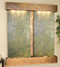 Cottonwood Falls with Rustic Copper and Green Slate Wall Fountain with Squared Corners