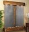 Cottonwood Falls with Rustic Copper Trim and Black Featherstone with Squared Corners