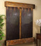 Cottonwood Falls with Rustic Copper Trim and Rajah Featherstone with Squared Corners